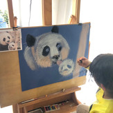 11 Years Old Student | Beginner | Individual lessons | Dry pastel