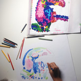 5 Years Old Student | Beginner | Individual lessons | Coloured Pencils
