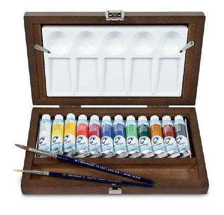 Van Gogh Aquarelle Set in wooden box