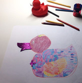 5 Years Old Student | Beginner | Individual lessons | Coloured pencil