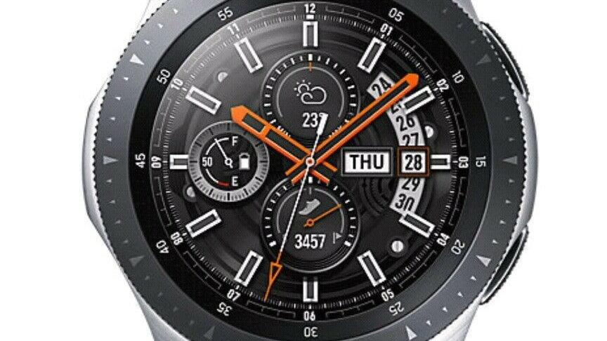 "Samsung SM-R800NZSABTU 46"" smartwatch Silver SAMOLED"