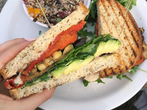 Loaded Roasted Veggie Sandwich