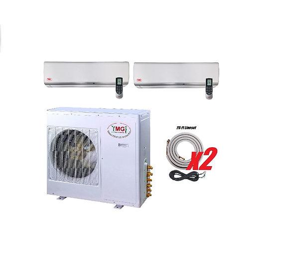 YMGI 27000 BTU 21 SEER DUCTLESS MINI SPLIT AIR CONDITIONER HEAT PUMP