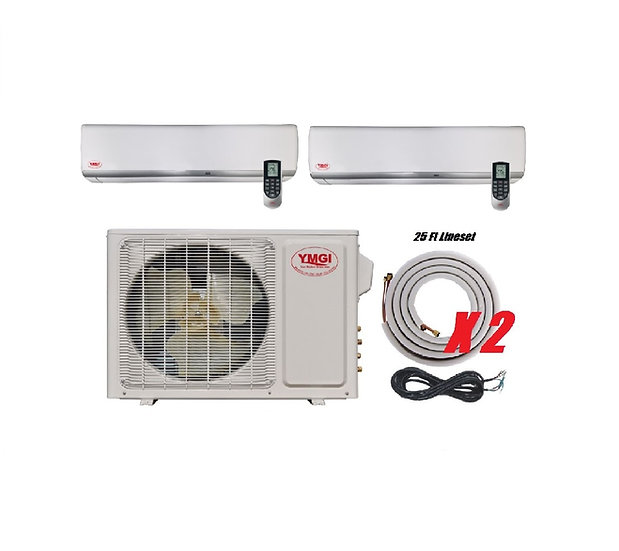 YMGI 18000 BTU 22 SEER DUCTLESS MINI SPLIT AIR CONDITIONER HEAT PUMP