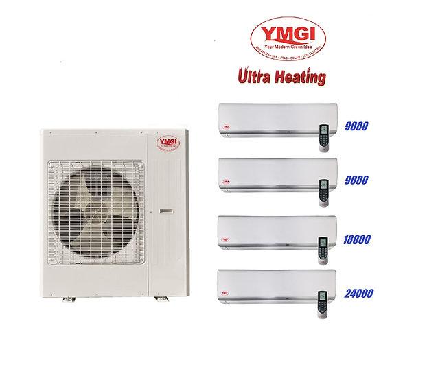 YMGI 60000 BTU 5 Ton 23 SEER Ultra Heat DUCTLESS MINI SPLIT AIR CONDI