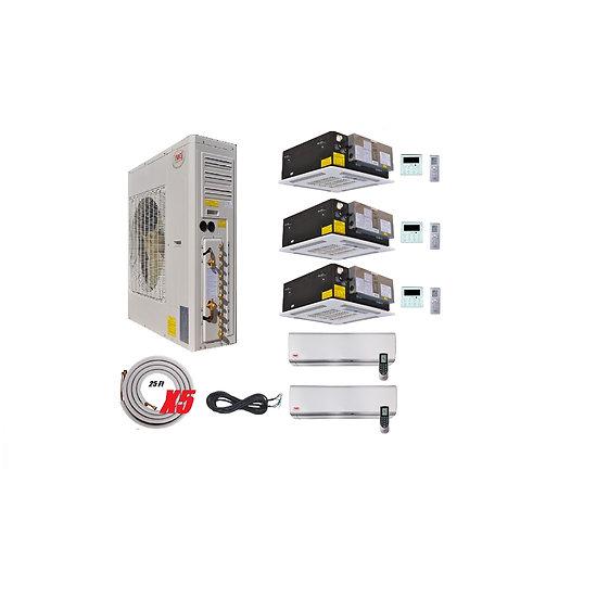 YMGI 60000 BTU 5 Zone Ductless Mini Split Air Conditioner Ceiling Casset