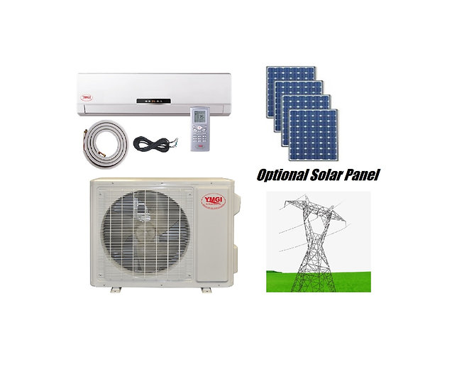 YMGI 12000 BTU Solar Assist Ductless Mini Split Air Conditioner with Heat Pump