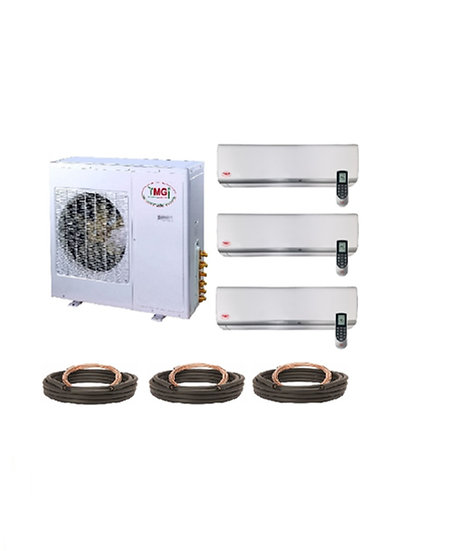 YMGI 30000 BTU 21 SEER 3 Zone Ductless Mini Split Air Conditioner