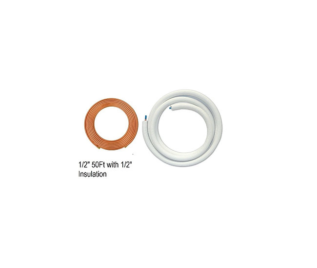 """YMGI Single Copper 1/2"""" 50 ft with 1/2"""" Insulation"""