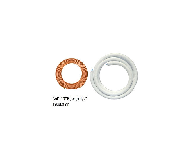 "YMGI Single Copper 3/4"" 100 ft with 1/2"" Insulation"