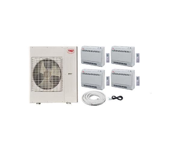 YMGI 36000 BTU 3 Ton 4 Zone Ductless Mini Split Air Conditioner Floor Ce
