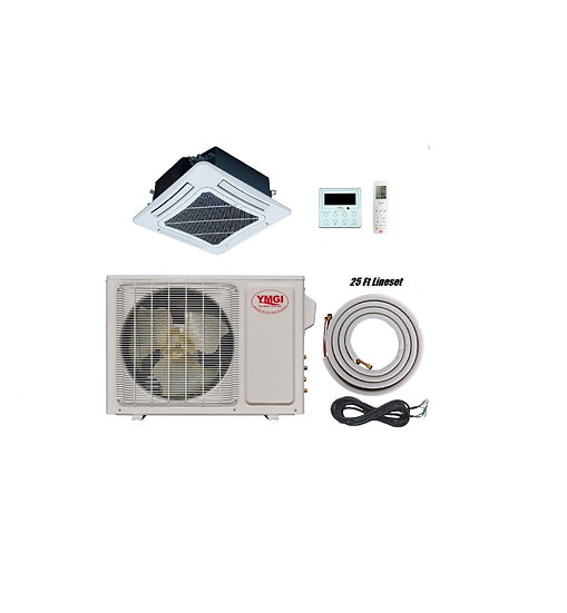 YMGI 18000 BT Ductless Mini Split Air Conditioner Heat Pump with CeilingCassette
