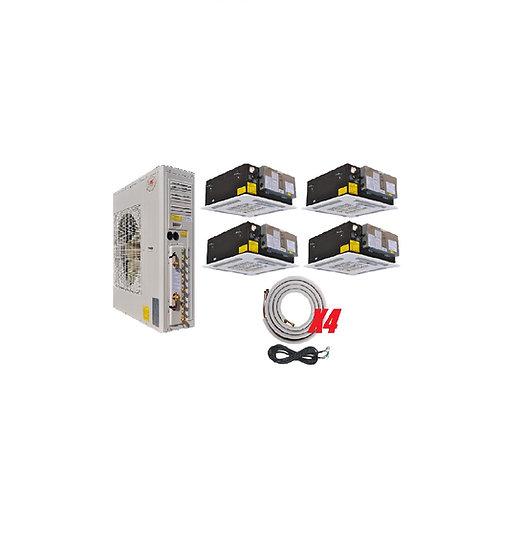 YMGI 48000 BTU 4 Zone Ductless Mini Split Air Conditioner Ceiling Cassette