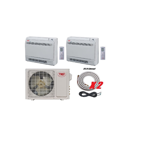 YMGI 24000 BTU 22 SEER DUCTLESS MINI SPLIT AIR CONDITIONER HEAT PUMP FLO