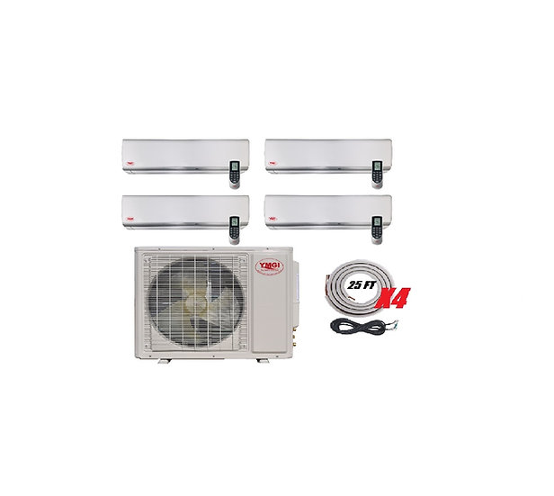 YMGI 36000 BTU 4 Zone Ductless Mini Split Air Conditioner Wall Mount