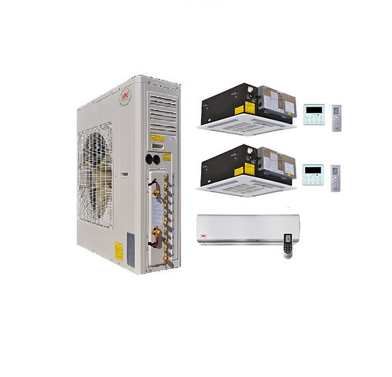 YMGI 66000 BTU 5 Ton 21 SEER 3 Zone Ductless Mini Split Air Conditioner