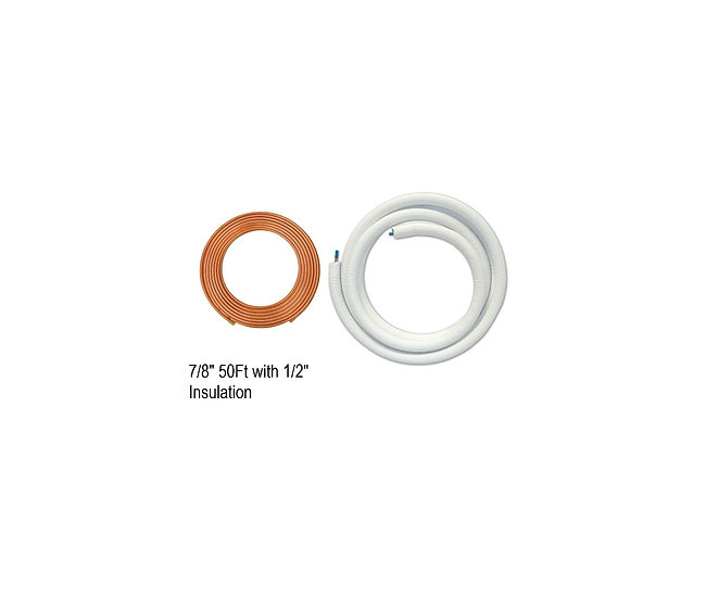 "YMGI Single Copper 7/8"" 50ft with 1"" Insulation"