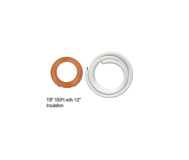 "YMGI Single Copper 7/8"" 100ft with 1/2"" Insulation"