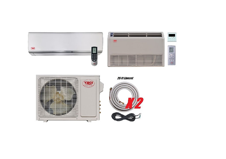 YMGI 36000 BTU 21 SEER DUCTLESS MINI SPLIT AIR CONDITIONER WALL + Floor