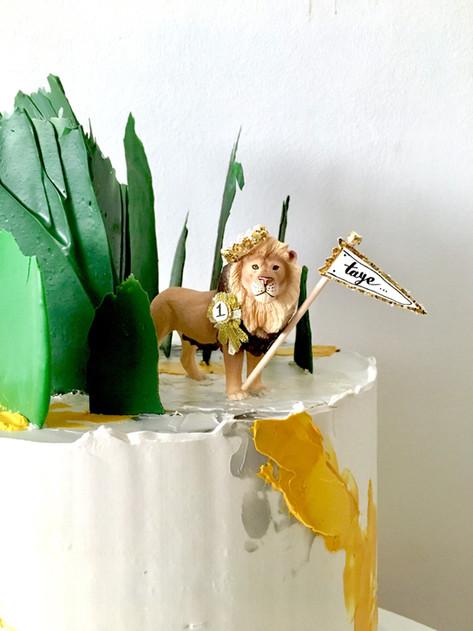 Urban Jungle Children's Birthday Cake