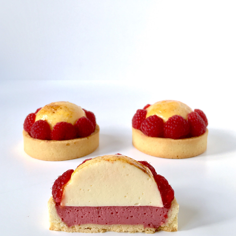 Raspberry and vanilla tartletsjpg