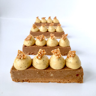 Hazelnut Praline and Passion Fruit mouse
