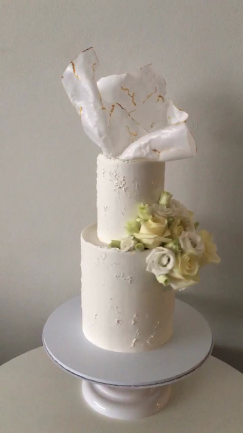Moulded Wafer Paper Wedding Cake