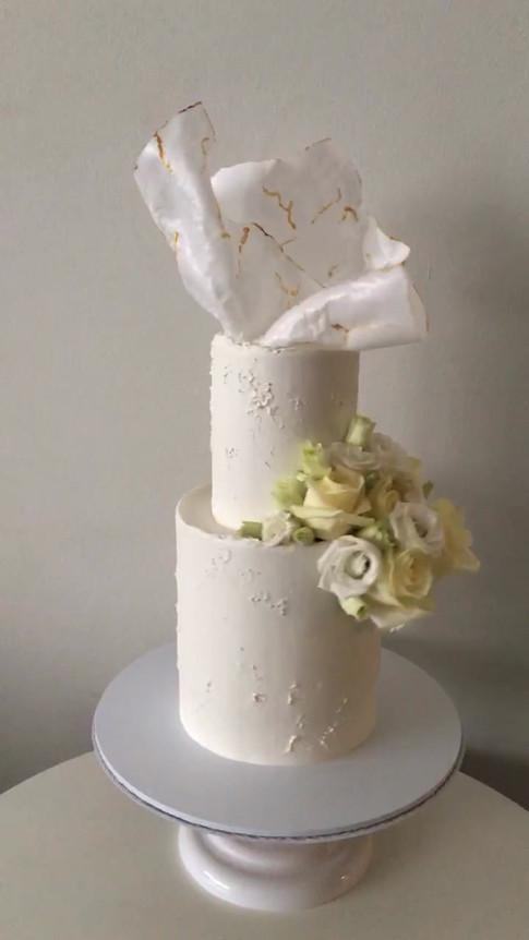 Moulded Wafer Paper Wedding Cake