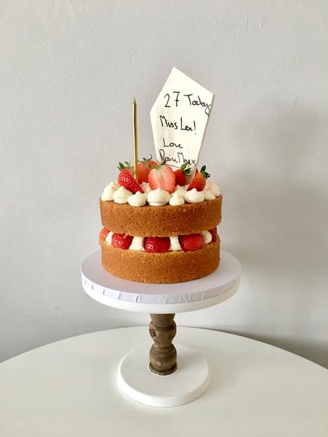 Strawberries & Cream Deli-Style Cake