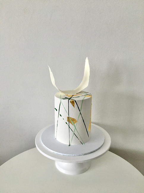 Abstract Buttercream Celebration Cake