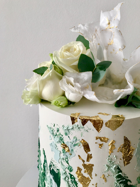 Textured Buttercream and Wafer Paper