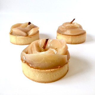 Pear and Caramel Tartlets