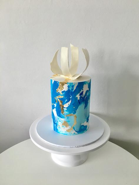 Abstract Buttercream Celebration Cake