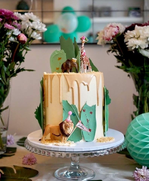 Children's Safari Themed Birthday Cake
