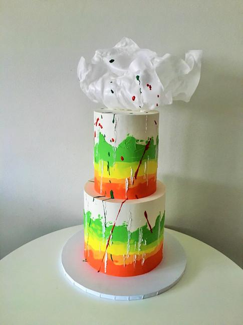 Abstract Buttecream Wedding Cake