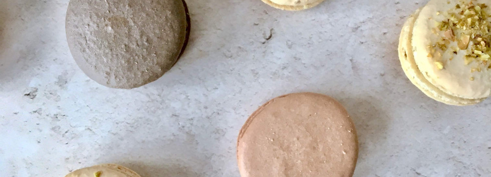 Chocolate Pistachio Macarons