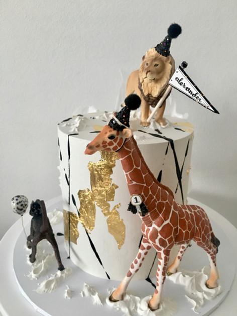 Children's Safari Birthday Cake