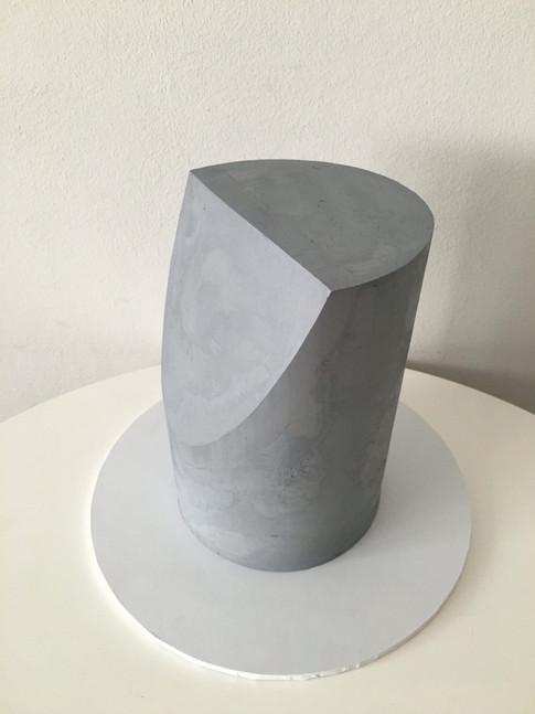 'Shaved' Concrete Buttercream Cake