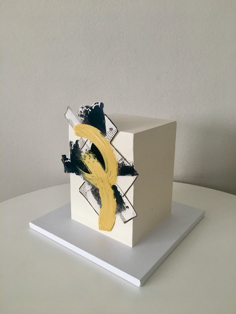 Square Cake Abrstract Cake 3