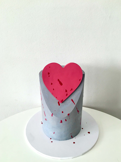 Valentine's Day Concrete Cake