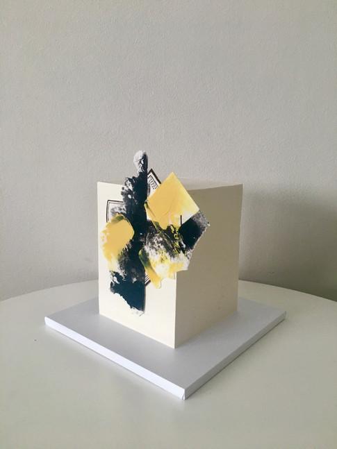 Square Cake Abrstract Cake 1
