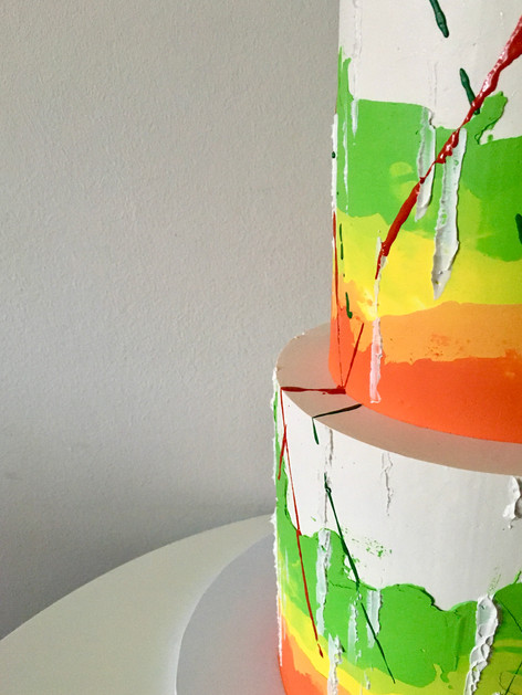 Abstract Buttecream Wedding Cake