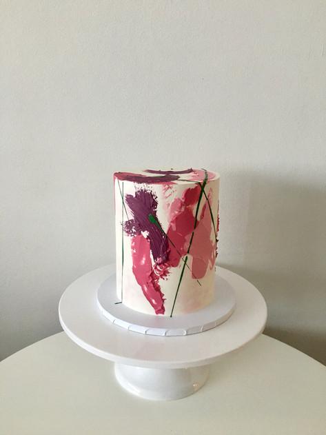 Textured Brushstroke Cake