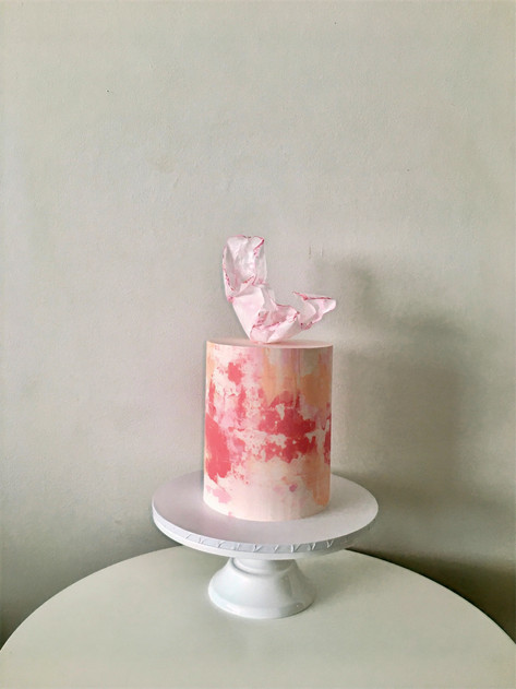 Wafer Paper Sail and Abstract Buttercream