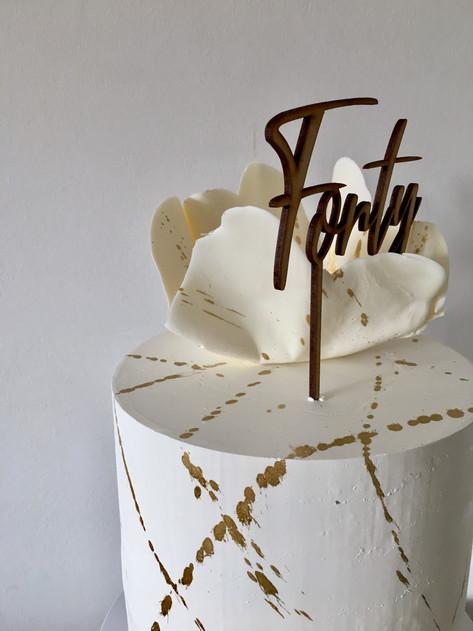 White Chocolate Wave Cake
