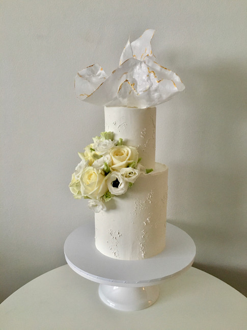 Wafer Paper Sail & Flowers