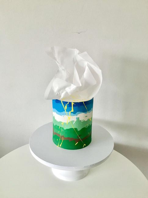 Abstract Buttercream Bespoke Cake