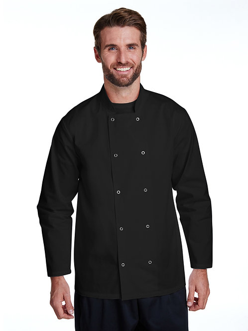 Chef's Coat Studded Front Long-Sleeve