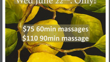 Summer Massage Promotion