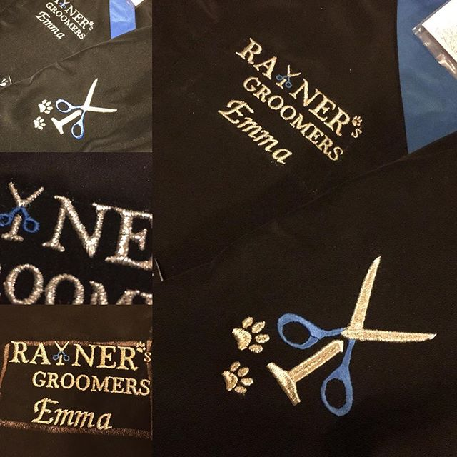 #doggroomers #workuniform #embroidery #bemoreprofessional #workclothes #customedisgne